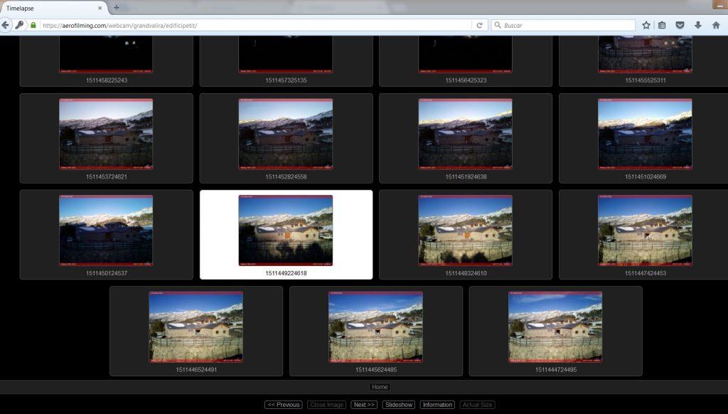 Visor para visualizar las fotografías que se van almacenando en un servidor seguro. Acceso con password y encriptacción SSL.